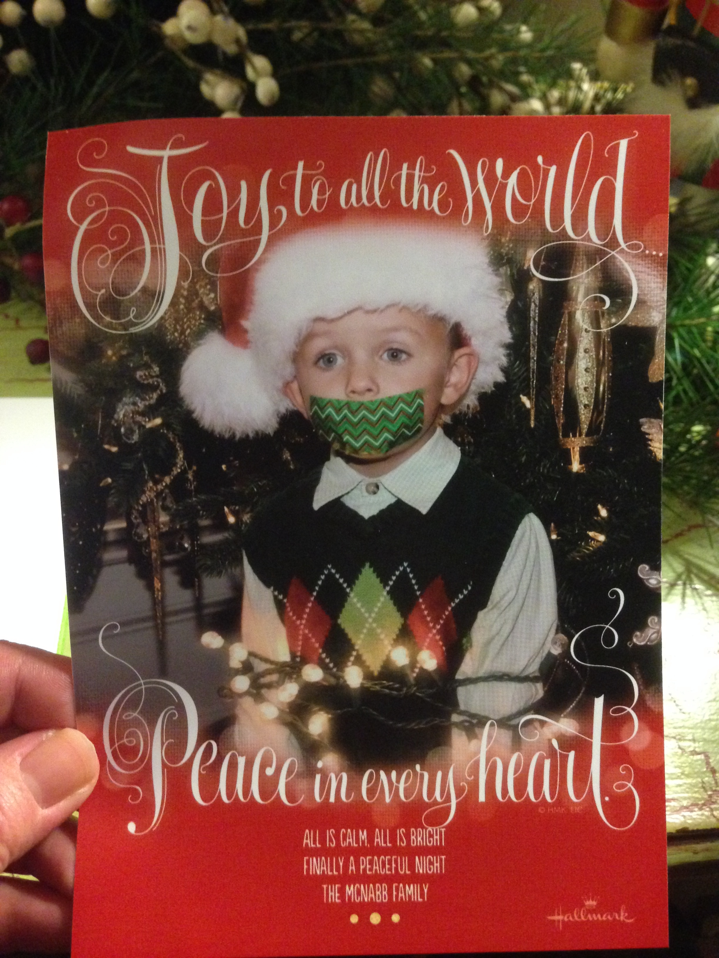 The best christmas card ever came in our mailbox this week m4hsunfo